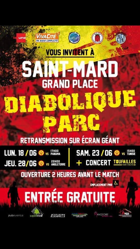 Diabolique Parc à Saint-Mard: Belgique - Tunisie @ Saint-Mard  Grand Place